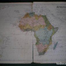 Arte: AFRICA. GEOGRAFÍA UNIVERSAL DE MALTE-BRUN, MONTANER Y SIMÓN 1876. Lote 161291170