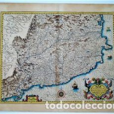 Arte: CATALONIAE PRINCIPATUS DESCRIPTIO NOVA. MAPA ORIGINAL DE CATALUNYA CATALUÑA. JODOCUS HONDIUS.. Lote 161479358