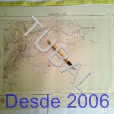 Arte: TUBAL 1923 MAPA ANTIGUO LES GOLES DE L'EBRE. Lote 161831558