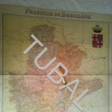 Arte: TUBAL 1890 MAPA ANTIGUO PROVINCIA DE BARCELONA. Lote 161831830