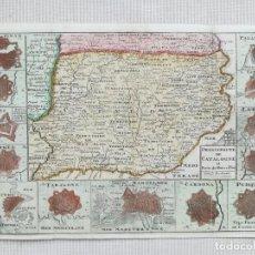 Arte: MAPA DE CATALUÑA - LA FEUILLE - AÑO 1706 - BARCELONA - CARDONA - LLEIDA - GIRONA - TARRAGONA. Lote 218532966