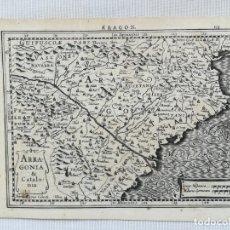 Arte: MAPA DE ARAGON Y CATALUNYA - KAERIUS MERCATOR HONDIUS - AÑO 1632. Lote 161906134