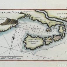 Arte: MAPA EBRE, AMPOSTA, SANT CARLES DE LA RAPITA - CATALUNYA - ROUX - AÑO 1780. Lote 161933832