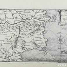 Arte: MAPA DE PALAMOS - BAIX EMPORDA - BEAULIEU - AÑO 1707. Lote 162057694