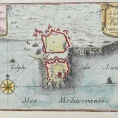 Arte: MAPA DE PALAMOS - GIRONA - BEAULIEU - AÑO 1707. Lote 162071886