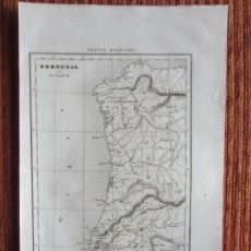 Arte: 1835- MAPA PLANO ORIGINAL. PORTUGAL. Lote 162676290