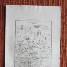 Arte: 1835- MAPA PLANO ORIGINAL. BATALLA DE LÜTZEN.ALEMANIA. GUERRA NAPOLEÓN.FRANCIA RUSIA. Lote 162676782