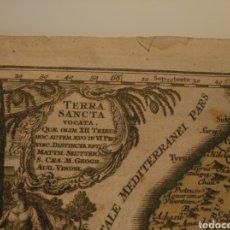 Arte: MAPA ANTIGUO DE TIERRA SANTA (HACIA 1750). Lote 163502473