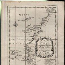 Arte: COSTE OCCIDENTALE D'AFRIQUE.- MAPA DE COMTE DE MAUREPAS EN 1738. Lote 165384618