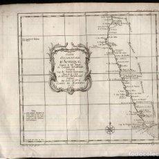 Arte: COSTE OCCIDENTALE D'AFRIQUE.- MAPA DE COMTE DE MAUREPAS EN 1739. Lote 165461150