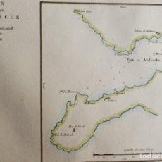 Arte: MALLORCA, PORT D´ANDRATX C. MOTTE, 1830, PLAN DU PORT D'ANDRACHE…. Lote 165712654