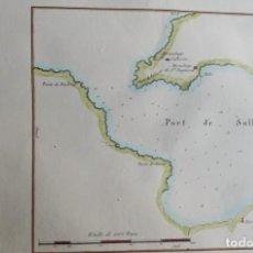 Arte: MALLORCA, PORT DE SOLLER C. MOTTE, 1830, PLAN DU PORT DE SOLLER DANS L'ISLE DE MAIORQUE.. Lote 165713066