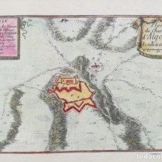 Arte: GRABADO DE ALGUAIRE- LLEIDA - BEAULIEU - AÑO 1707. Lote 165778758