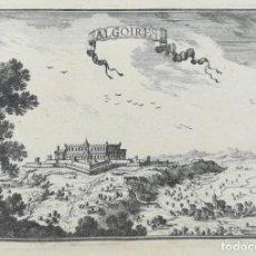 Arte: GRABADO DE ALGUAIRE- LLEIDA - BEAULIEU - AÑO 1707. Lote 165779550
