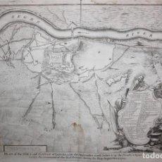 Arte: ANTIGUO GRABADO DE MAPA DE LA GUERRA DE SUCESION DEL AÑOS 1707 (LERIDA). Lote 166030350