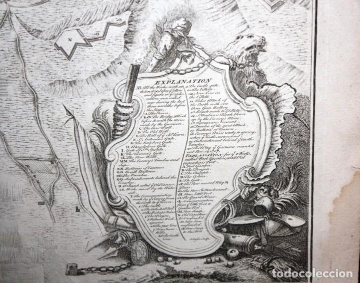 Arte: ANTIGUO GRABADO DE MAPA DE LA GUERRA DE SUCESION DEL AÑOS 1707 (LERIDA) - Foto 4 - 166030350
