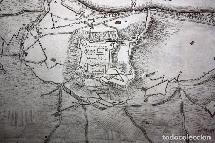 Arte: ANTIGUO GRABADO DE MAPA DE LA GUERRA DE SUCESION DEL AÑOS 1707 (LERIDA) - Foto 5 - 166030350