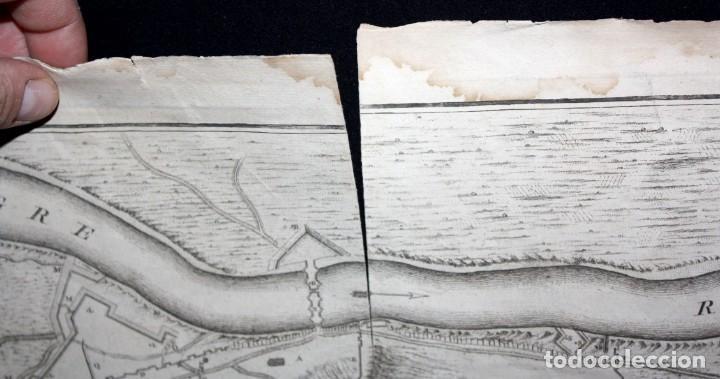 Arte: ANTIGUO GRABADO DE MAPA DE LA GUERRA DE SUCESION DEL AÑOS 1707 (LERIDA) - Foto 7 - 166030350