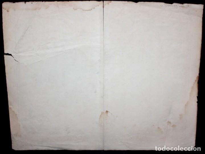 Arte: ANTIGUO GRABADO DE MAPA DE LA GUERRA DE SUCESION DEL AÑOS 1707 (LERIDA) - Foto 10 - 166030350