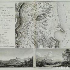 Arte: MAPA DE OROPESA - CASTELLON - GUERRA DE LA INDEPENDENCIA - SUCHET - AÑO 1811. Lote 166174674