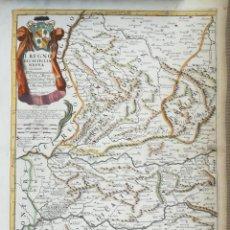 Arte: MAPA DE CASTILLA EXTREMADURA - SALAMANCA CACERES PLASENCIA MERIDA BADAJOZ - CANTELLI ROSSI - AÑ 1696. Lote 166402430