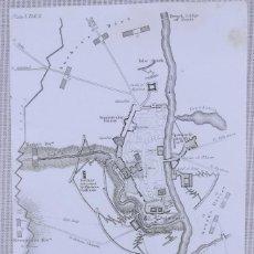 Arte: MAPA ASEDIO ZARAGOZA 1809 - GUERRA DE LA INDEPENDENCIA - BOONE -. Lote 166677330