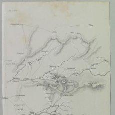 Arte: MAPA DEL COMBATE DE ALMARAZ CACERES MAYO DE 1812 - GUERRA DE LA INDEPENDENCIA - BOONE. Lote 166704794