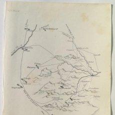 Arte: MAPA BATALLA DE ZORNOZA VIZCAYA OCTUBRE DE 1808 - GUERRA DE LA INDEPENDENCIA - BOONE. Lote 166710502