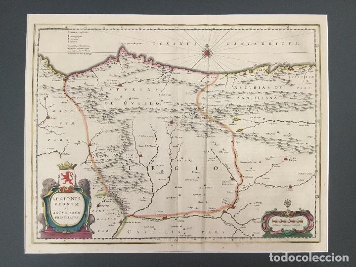 MAPA. LEGIONIS REGNUM ET ASTURIARUM PRINCIPATUS. REINO DE LEÓN Y PRINCIPADO DE ASTURIAS. S. XVII. (Arte - Cartografía Antigua (hasta S. XIX))