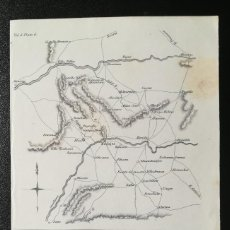 Arte: MAPA DE ALCUESCAR CACERES - OP GRAL HILL EN EXTREMADURA - GUERRA DE LA INDEPENDENCIA - AÑO 1811. Lote 166871236