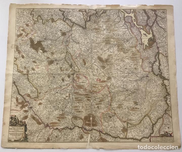 Arte: TABULA DUCATUS BRABANTIAE continens Marchionatum Sacri Imperii et Dominium Mechliniense de novo accu - Foto 3 - 123260052