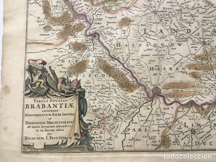 Arte: TABULA DUCATUS BRABANTIAE continens Marchionatum Sacri Imperii et Dominium Mechliniense de novo accu - Foto 2 - 123260052