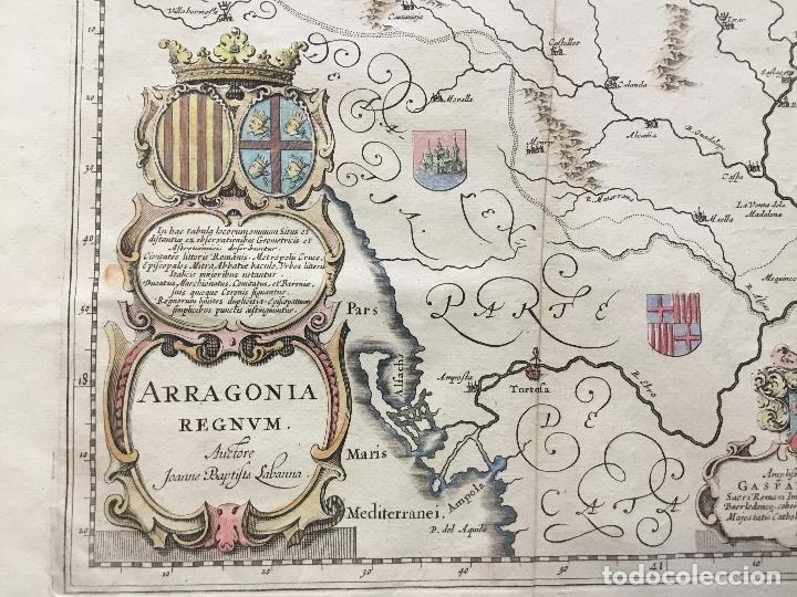 ARRAGONIA REGNUM. - [MAPA.] LABAN?A [LABANNA], IOANNES BAPTISTA Y BLAEU, W. J. (Arte - Cartografía Antigua (hasta S. XIX))