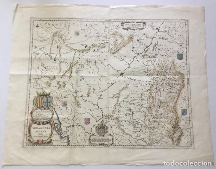 Arte: ARRAGONIA REGNUM. - [Mapa.] LABAN?A [LABANNA], Ioannes Baptista y BLAEU, W. J. - Foto 2 - 123268090