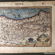 Arte: MAPA ANTIGUO AÑO 1612 DE VIZCAYA Y LEÓN. Lote 166875394