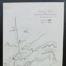 Arte: MAPA TUDELA CALAHORRA LOGROÑO MIRANDA ESTELLA - GUERRA DE LA INDEPENDENCIA - AÑO 1808. Lote 166891200