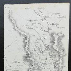 Arte: MAPA MADRID ALMONACID TOLEDO PLASENCIA CASTILLA CACERES- GUERRA DE LA INDEPENDENCIA - AÑO 1809. Lote 166894608