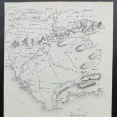 Arte: MAPA CADIZ ANDALUCIA - GUERRA DE LA INDEPENDENCIA - AÑO 1810. Lote 166896128