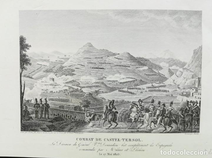 BATALLA DE CASTELLTERÇOL BARCELONA - ANY 1823 - ABEL HUGO (Arte - Cartografía Antigua (hasta S. XIX))