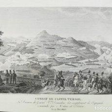 Arte: BATALLA DE CASTELLTERÇOL BARCELONA - ANY 1823 - ABEL HUGO. Lote 166923284