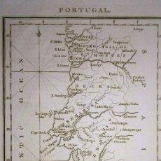 Arte: MAPA ANTIGUO PORTUGAL AÑO 1810 CON CERTIF. AUTENTICIDAD. MAPAS ANTIGUOS DE PORTUGAL. Lote 167510144