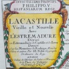 Arte: MAPA DE CASTILLA EXTREMADURA - DEDICADO A FELIPE V - AÑO 1704 - NOLIN . Lote 167664732