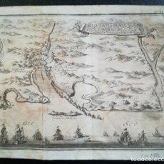Arte: MAPA BATALLA DE VIGO - AÑO 1702 - GUERRA DE SUCESION - GRABADO PUBLICACION ALEMANA. Lote 167824704