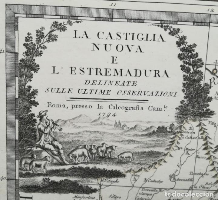 EXTREMADURA CASTILLA MADRID GUADALAJARA CUENCA CIUDAD REAL TOLEDO BADAJOZ CACER- CASSINI - AÑO 1794 (Arte - Cartografía Antigua (hasta S. XIX))