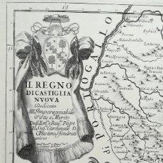 Arte: MAPA DE CASTILLA EXTREMADURA - MADRID TOLEDO CUENCA BADAJOZ SALAMANCA - ROSSI - AÑO 1696. Lote 168176132