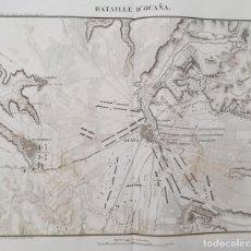 Arte: MAPA BATALLA OCAÑA - GUERRA DE LA INDEPENDENCIA - AÑO 1809 - SIMONDI. Lote 168470608