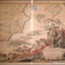 Arte: CA. 1710 MAPA GUERRA DE LA SUCESION DEDICADO A FELIPE V GRABADO COLORADO A MANO - COVENS & CORNEILLE. Lote 168481196