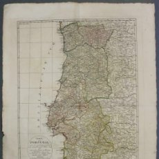Arte: GRAN MAPA DE PORTUGAL Y OCCIDENTE DE ESPAÑA, 1799. LÓPEZ/MANNERT/SCHEIDER. Lote 168494832