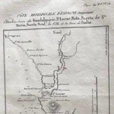 Arte: MAPA DEL LITORAL DE SANLUCAR Y CÁDIZ E INMEDIACIONES (ESPAÑA), HACIA 1850. MOTTE. Lote 168810869