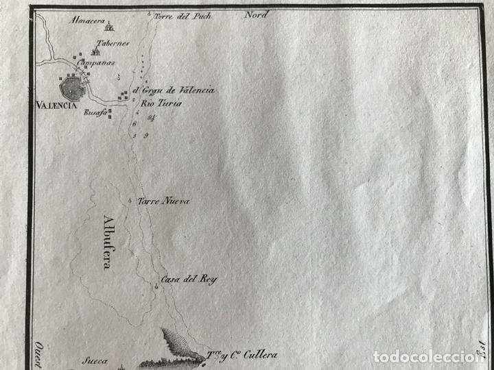 Arte: Mapa del litoral de Denia a Valencia e inmediaciones (España), hacia 1850. Motte - Foto 4 - 186057942
